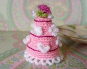 3 TIER PINK WEDDING CAKE - LE PETIT DESSERT COLLECTION