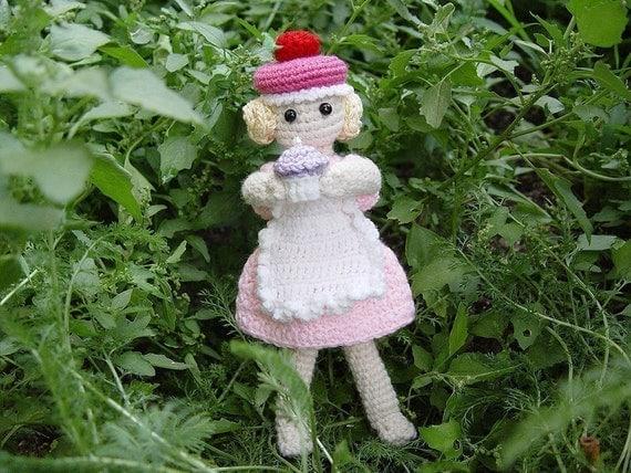 Crochet Cupcake Doll Pattern : Cupcake Fairy Doll PDF Amigurumi Pattern