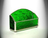 Green Stained Glass Business Card Holder