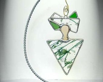 Stained Glass Peaceful Spirit Ornament