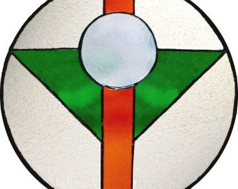 Simplicity Stained Glass Panel