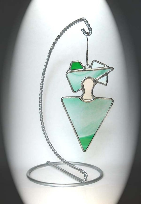 Green Stained Glass Peaceful Spirit Ornament
