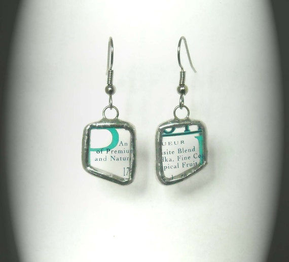 Upcycled HPNOTIQ Liquer Earrings 2