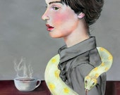 My Morning Coffee 8.5 X 11 print by Caryn Cast