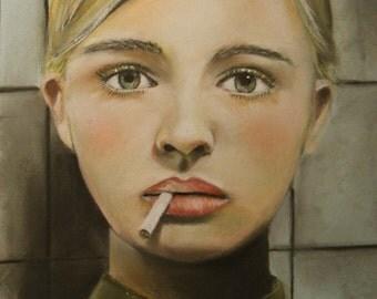 The Smoking Room 8.5 X 11 Print by CarynCast