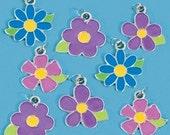 Spring flower enamel charms