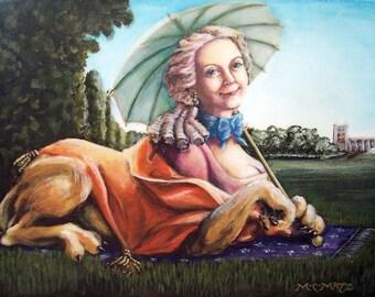Madame Lyonne - metallic 5x7 print