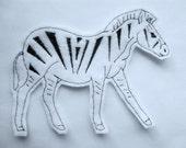 Custom order for  stepheenyc Zebra Applique Iron on Version