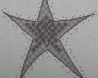 Beaded Star - Antique Purple