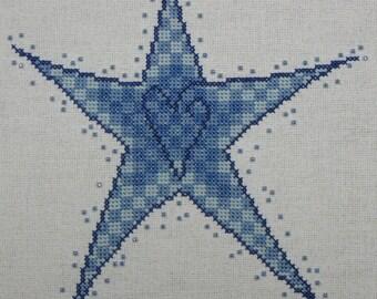 Beaded Star - Blue