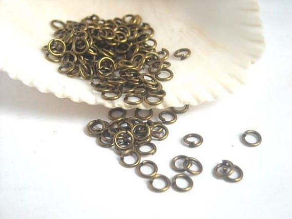 Antique Brass 6mm Open Jump Rings