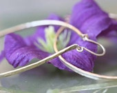 Classic Gold Filled Hammered Hoops-2.5 inches