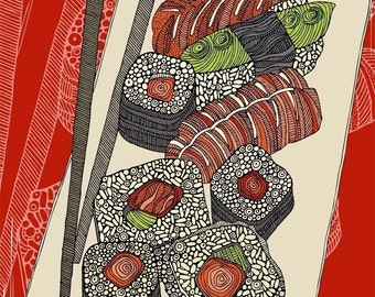 Sushi Digital Print