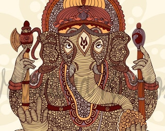 Ganesha, Lord of success and destroyer of evils and obstacles print