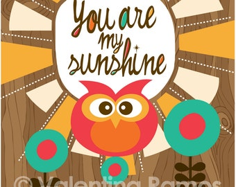 You are my sunshine- Inspirational art for kids...and grownups too