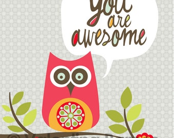 You are Awesome- Inspirational art for kids