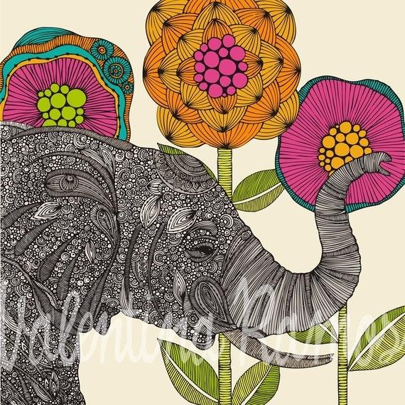 Aaron the elephant  print
