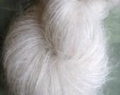 Reserved - 3 skeins alabaster -  mohair - natural undyed yarn