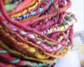 gypsy in parfait : handspun handpainted art yarn merino wool / hand painted hand dyed hand spun