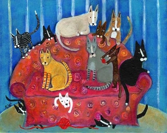 THE KITTY COUCH GICLEE ARCHIVAL PRINT 11X14