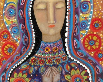 the mexican Madonna large giclee print by rose walton 11x14