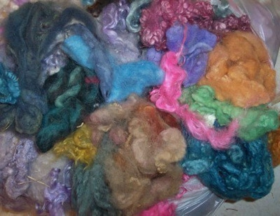 multi dyed wool mohair alpaca exotics spinning felting fiber