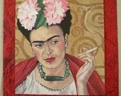 Happy 100th Birthday Frida -- Greeting Card with Reproduction of Original Frida Kahlo Portrait