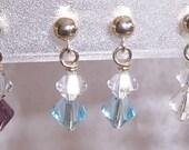 Petite Birthstone Swarovski Crystal and Sterling Silver Post Earrings