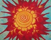 Sunburst Spiral giclee print