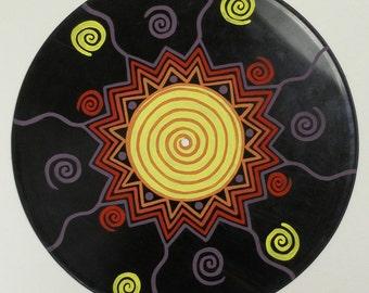 Vinyl Art Upcycled Original Abstract Acrylic Painting Mandala Music Psychedelic Love Festival Hippie LP Record Wall Art Home Decor Paula M