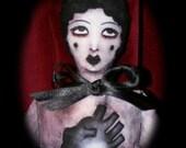 Black Heart Doll Stuffed Print