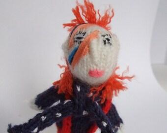 Ziggy Stardust Style finger puppet
