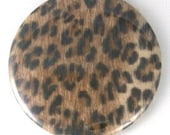Funky Retro Rockabilly Leopard Print Purse / Pocket Mirror