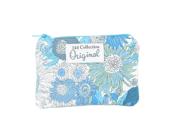 Coin Purse Small Liberty of London Turquoise Floral Zipper Coin Purse, Change Purse