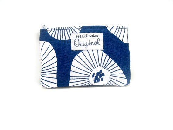 Coin Purse,  Zipper Pouch, Coin Pouch - Navy Moira Change Purse, Zipper Purse