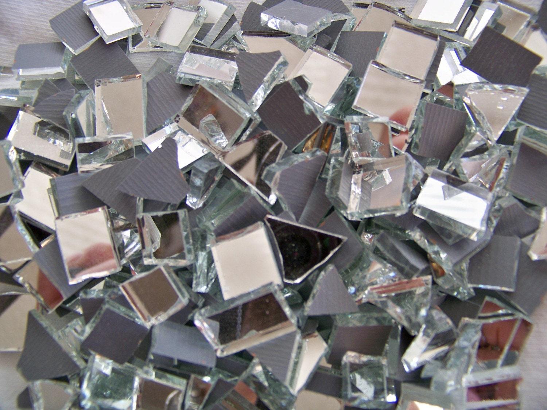 Broken Mirror Bits For Mosaic Tile 292 Pieces