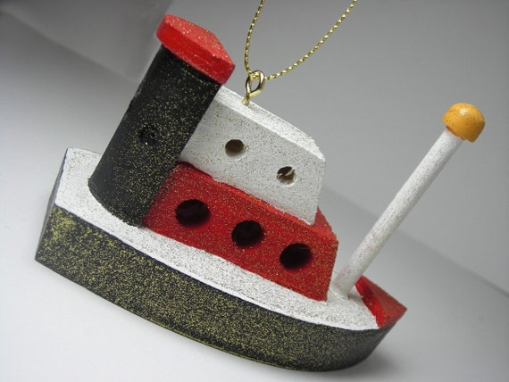 The little tug boat that could - cruise liner Christmas Ornament