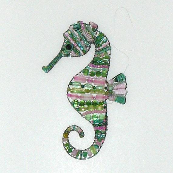 suncatcher beaded seahorse