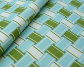 Lawn Chair Organic Canvas in blue & green- Fat Quarter