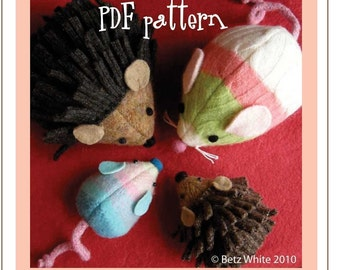 Squeak and Spike - Mouse and Hedgehog PDF PATTERN