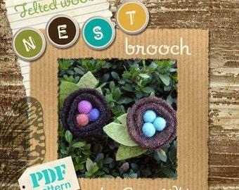 Nest Brooch PATTERN - PDF