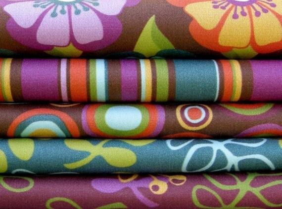 CRAFT CUTS No. 5 - Indian Summer on Organic Cotton Sateen
