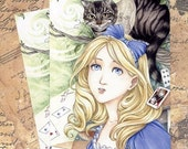 Postcard - Alice in Wonderland Cheshire cat by Meredith Dillman