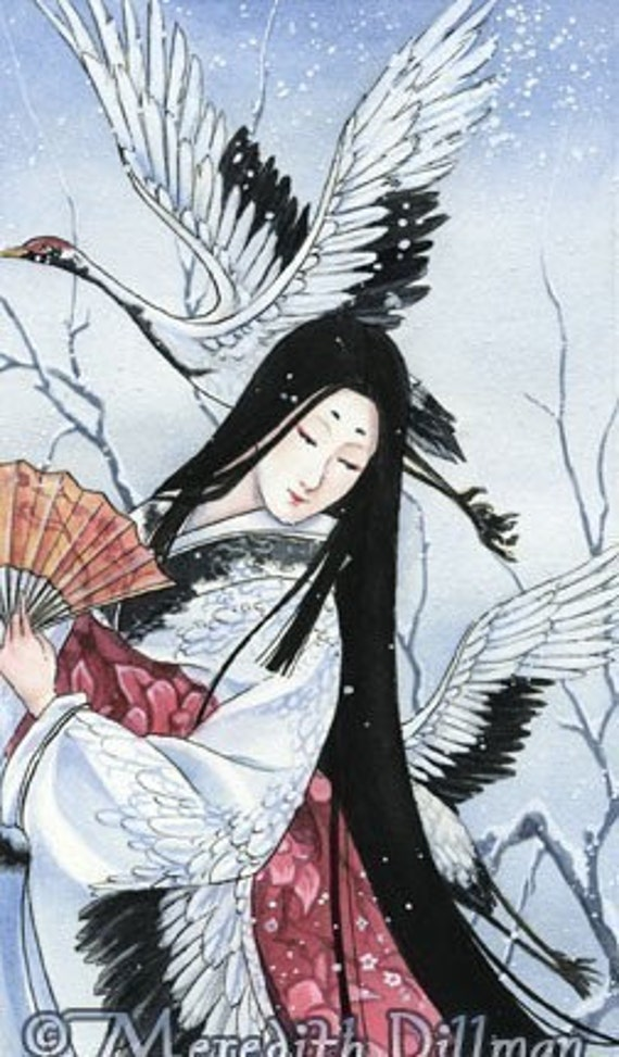 Crane Japanese art limited edition print fairy tale by - photo#30