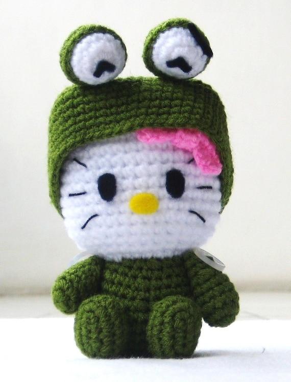 Hello Kitty Halloween Amigurumi : RAEWADOLLY Amigurumi Kawaii Hello Kitty in Kero Keroppi