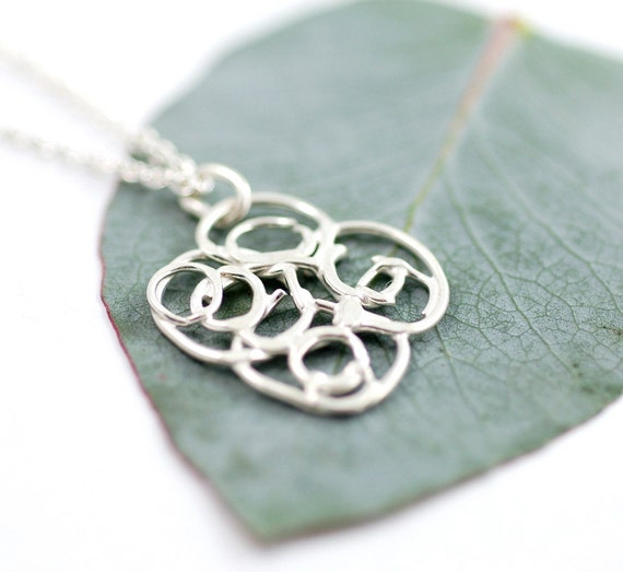 Small Organic Vine Necklace - sterling silver