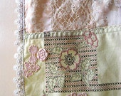 Home Decor, Table Runner, Vintage Lace, Embroidered