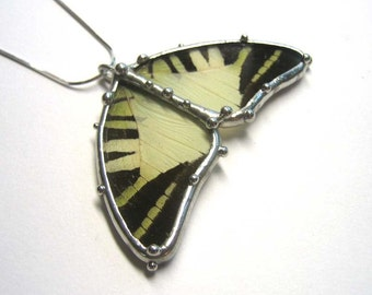 The Palest Yellow Wings Butterfly Necklace
