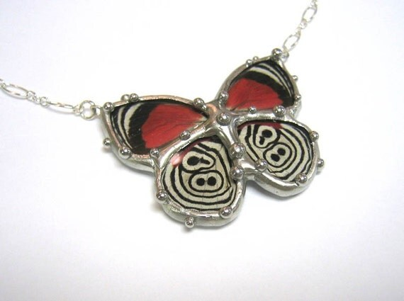 88 Butterfly Necklace - Real Butterfly Wings
