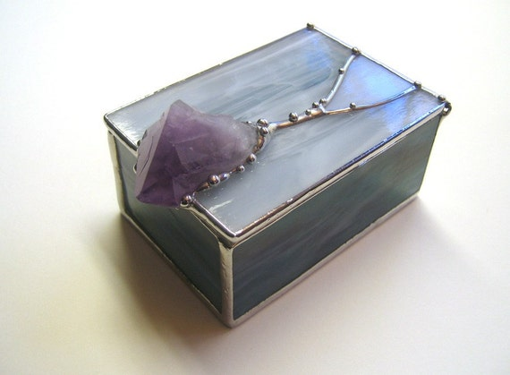 Amethyst Crystal and Glass Box Two